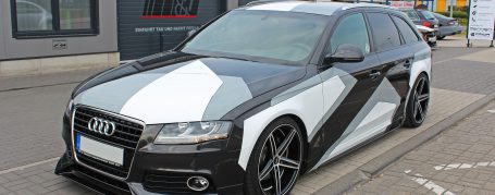 Audi A4 Avant 8F - Design Wrap in Oracal Gloss White + Oracal Telegrey
