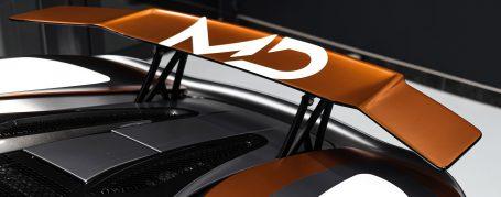 McLaren 570s - Design Wrapping in TeckWrap Wild Orange + PWF Matt Dark Charcoal